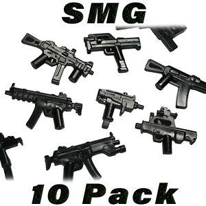 Lego-Waffen-SMG-Sub-Maschinengewehr-Posten-randomisierten-Custom-Waffe-Militaer-Armee-Bulk