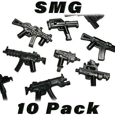 LEGO Guns MP5 A3 SMG Lot of 15 Sub-machine Gun Suppressor Military Weapon Pack