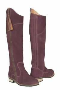 Cipriata real suede twin gusset ankle boots style L732ncs Stellira C Navy//Berry