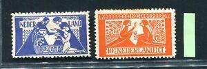 Nederland, frankeer nvph 134 / 135 Tooropzegels, ongebruikt ;