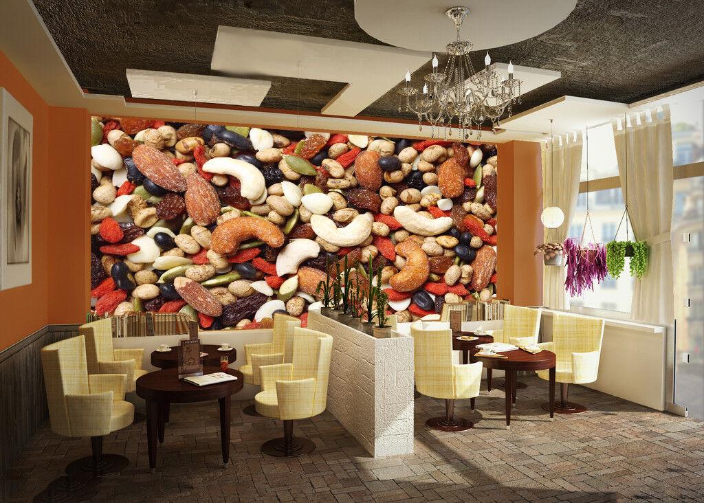 3D All Kinds Of Nuts 871 Wallpaper Mural Paper Wall Print Wallpaper Murals UK