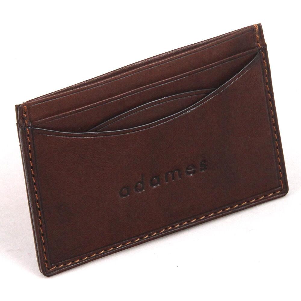 Luxury Italian Leather Slimline (Minimalist Design) Credit Card Holder by Adames