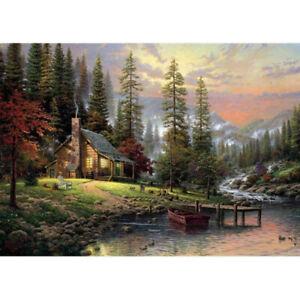 16x12-039-039-Canvas-Paint-By-Number-Kit-Digital-Oil-Painting-Beauty-Rural-Landscape