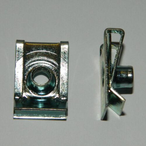 metrische Schnappmuttern M6 Stahl verz 5 Stk Befestigungsklammer Blechmutter