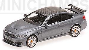 BMW M4 GTS  mattgrau mit orangen Felgen  Minichamps  Limitiert  1:43  NEU