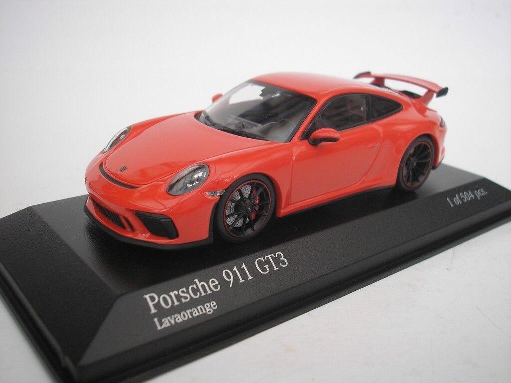 PORSCHE 911 GT3 2016 Orange 1 43 MINICHAMPS 410066024 NEUF