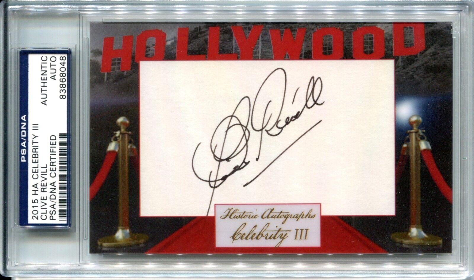Clive Revill 2015 Historic Autographs Hollywood Celebrity III Auto Cut PSA DNA