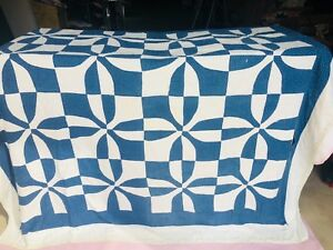 VINTAGE-QUILT-1930-s-Whirlwind-72x74
