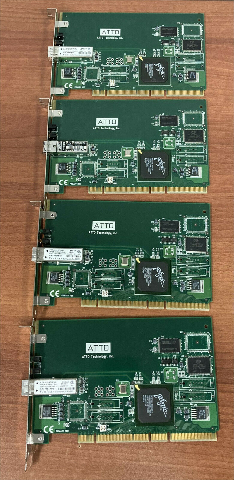 4x ATTO3300 2Gbps Fibre Channel Host Bus Adapter Optical LC PCI-X Network Cards