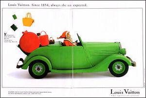 1995 Santa Claus driving classic car Louis Vuitton bags photo print ad ads73