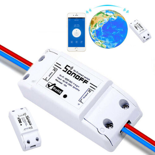 WiFi Sonoff Switch 2200W 10A Fernbedienung Timer Control Modul Lampenfassung HH
