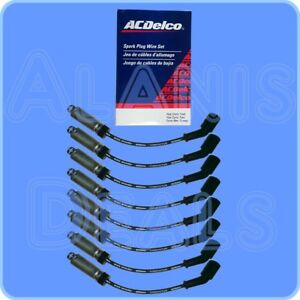 GM-OEM-Spark-Plug-Wire-Set-W-Heat-Shield-8-For-Round-Coils-Stamped-19005218
