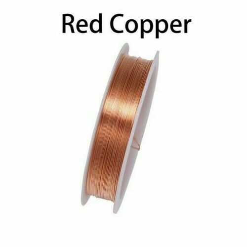 0.2-1mm Copper Metal Wire Thread String Cord For DIY Beads Craft Jewelry Making#