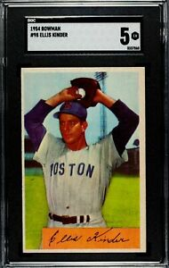 1954-Bowman-98-Ellis-Kinder-Boston-Red-Sox-SGC-5-EX