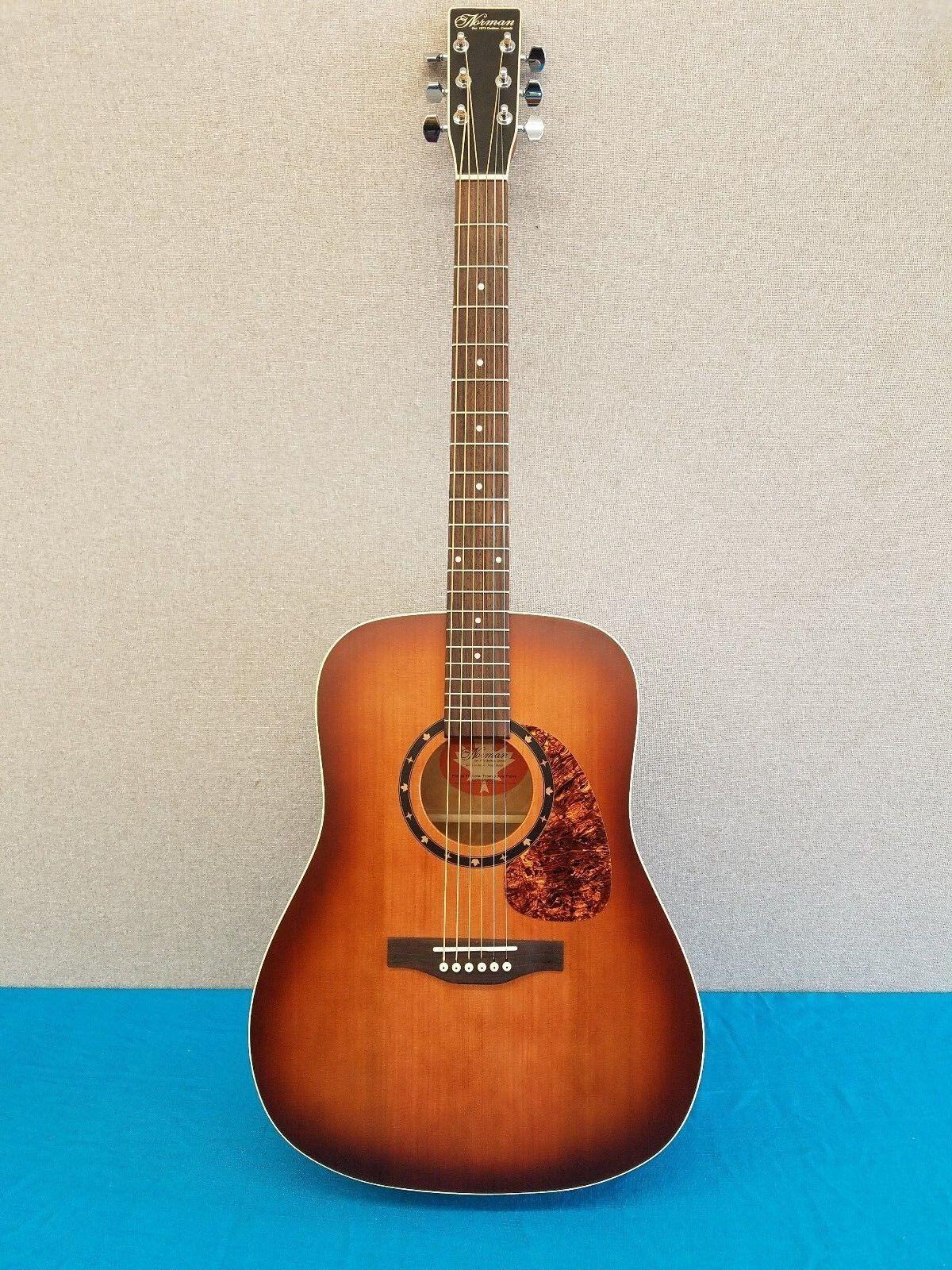 New Norman Protoge B18 Cedar Tobacco Burst Acoustic Electric Guitar w/Gig Bag