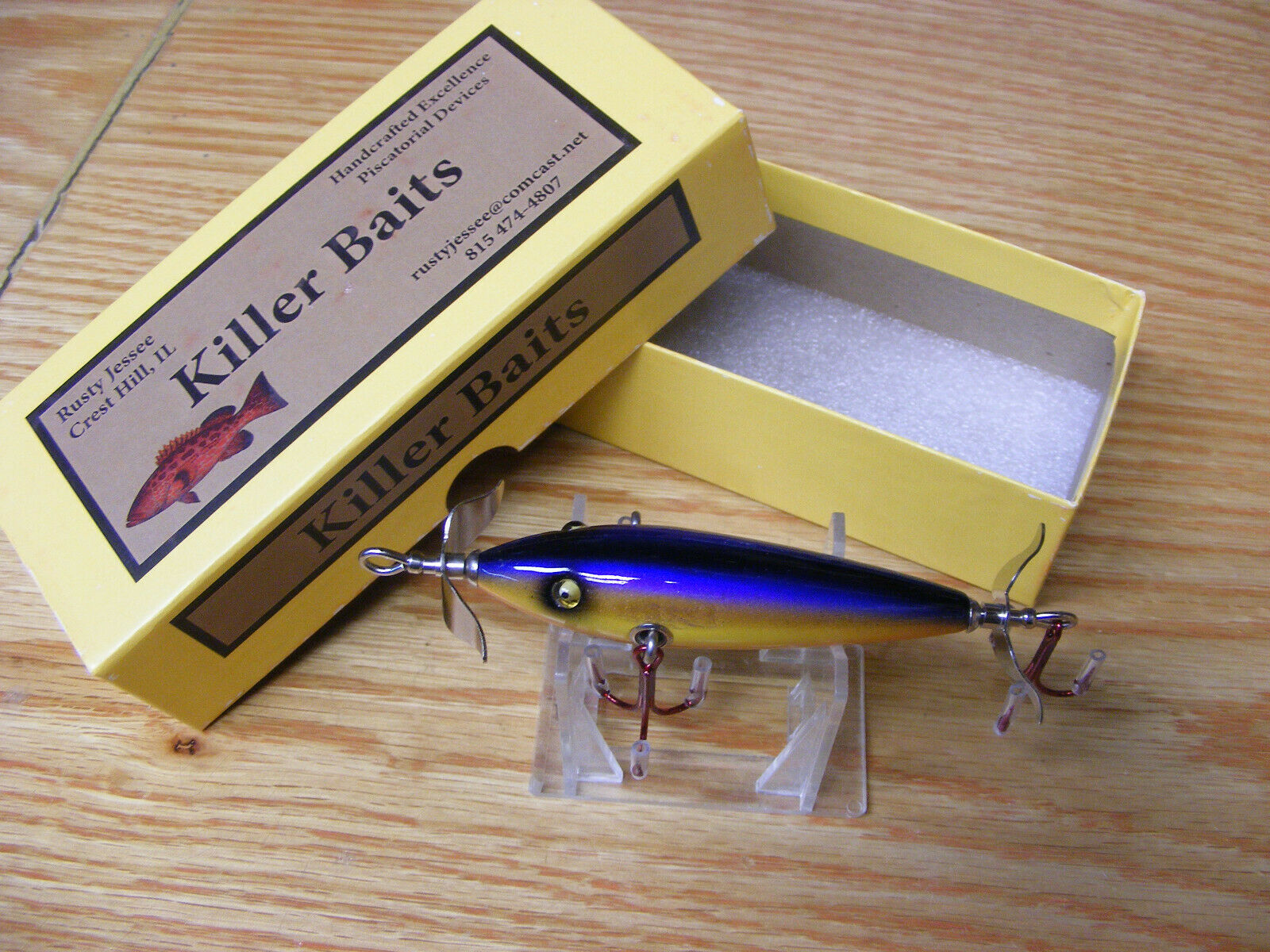 Killer Baits Rusty Jesse Heddon Little Sac Style Glasseye 100 in Tropical Berry