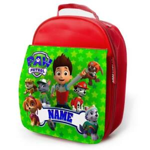PERSONALISED-Lunch-Bag-PAW-PATROL-GAMER-Insulated-Red-School-Kids-Snack-Box-PW04