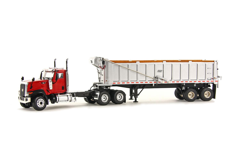Caterpillar CT680 camion avec East Dump Trailer -  Rouge  - 1 50 - WSI  39-1001
