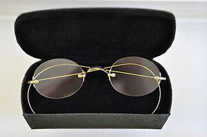 14k Solid Gold Eyeglass Frames : Vtg. 14K solid gold 3-piece mount eyeglasses eBay