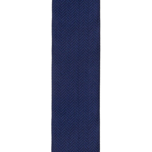Trafalgar Formal Herringbone Silk Navy Brace