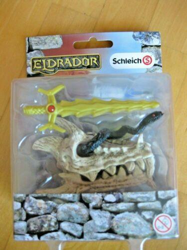 Schleich ELDRADOR 42152 Drachenschatz// Drachenkopf Schwert //Schlange