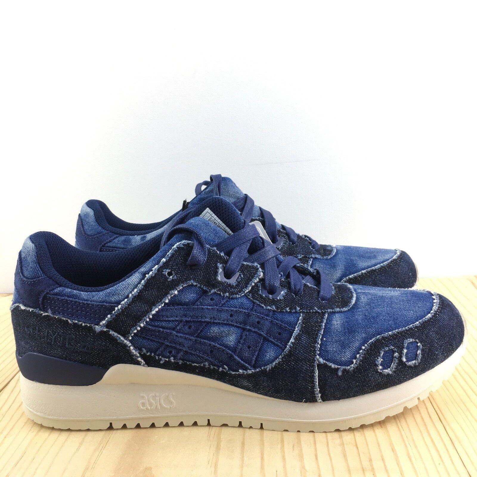 Asics Gel Lyte III Size 9 Japanese Denim Indigo Blue Mens Shoes H7D3N