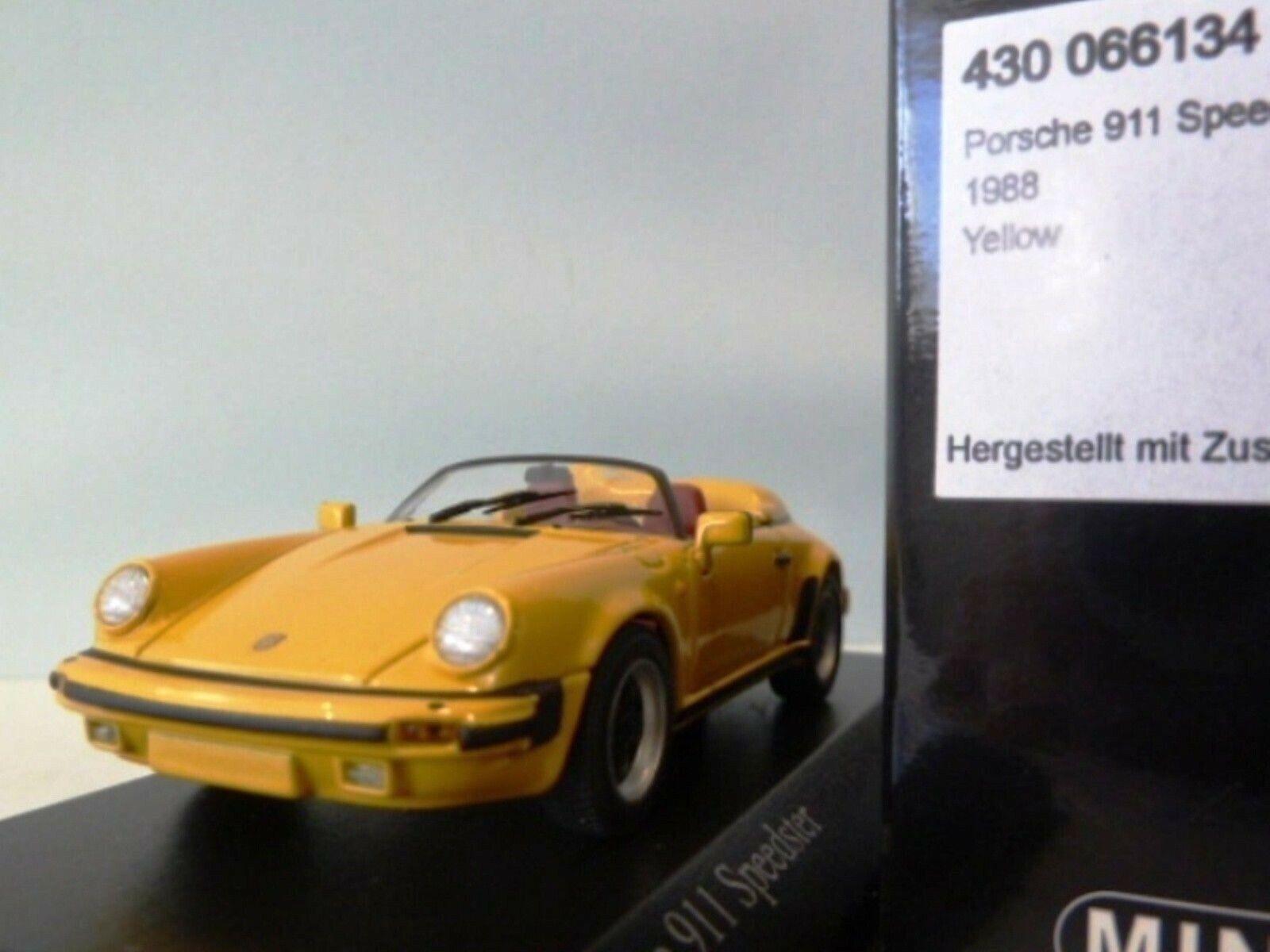 Wow extrêmeHommest  rare Porsche 930 1988 911 G-Modèle SPEEDSTER jaune 1 43 Minichamps  bas prix
