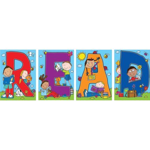 Read Bulletin Board Set Carson Dellosa CD-110124 4 Letter Scenes
