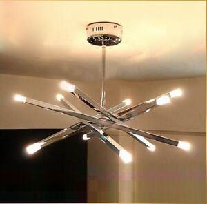 12 lights new modern crystal ceiling light dining room for New modern lighting
