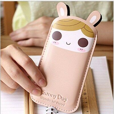 Cute Kawaii UP Leather Cell Phone Cover Case Pouch Protector iPhone 4 5s 6 bunny