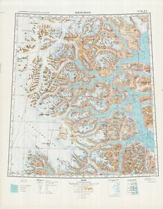Details about Russian Soviet Military Topographic Maps - GREENLAND  (Denmark) 1:500 000