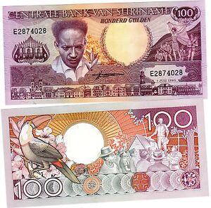 Suriname Surinam Billet 100 Gulden 1986 P133 Unc Neuf Fnzwhjdw-07214604-587199826