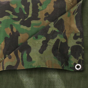 Strong Camo Camouflage Tarpaulin Army Waterproof Camping Ground Sheet & Outdoor