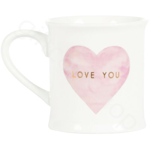 White LOVE YOU Coffee Mugs Hot Drinks Porcelain Tea Cups Wedding Valentines Gift