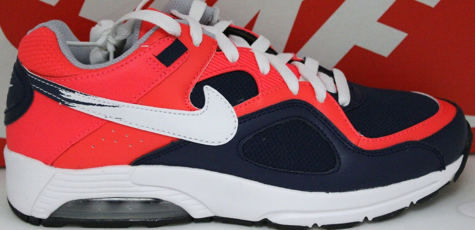 Nike Air Max Go Strong Essential 631718 600 Crimson White Mid Navy New In Box