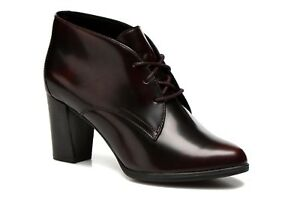Image Is Loading New Clarks Womens Leather Smart Ankle Boots Office