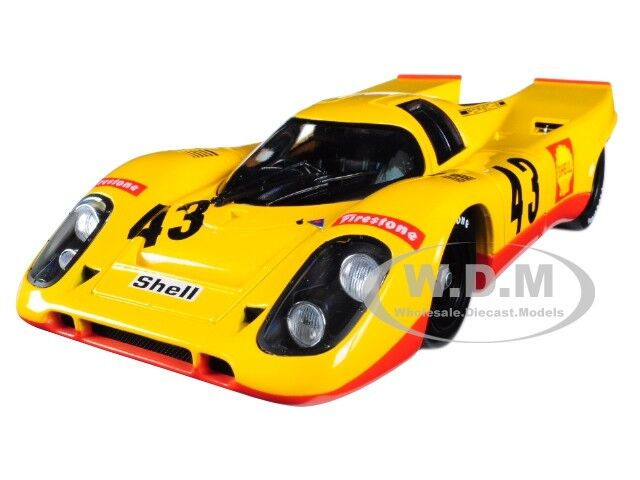 """PORSCHE 917K """"SHELL"""" #43 5TH PLACE 1970 1000KM SPA 1/18 DIECAST BY NOREV 187585"""