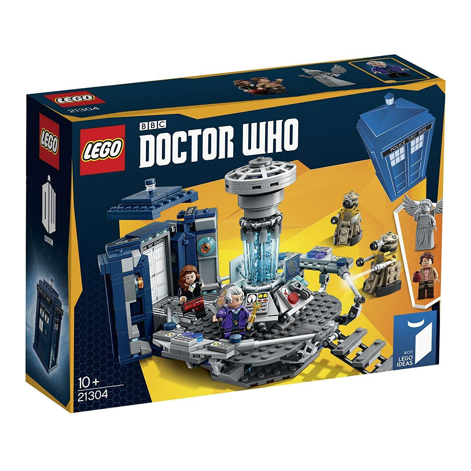 LEGO 21304 DR WHO TARDIS DALEKS WEEPING ANGELS MINI FIGS VINTAGE COLLECTABLE SET