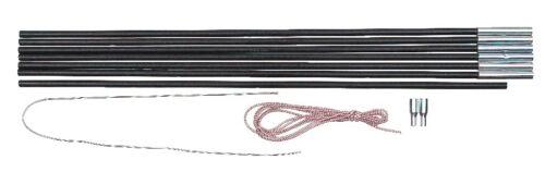 Relags Fiberglasstange Zelt Ersatzgestänge 4 m x 8.5 mm 7 Segmente Reparatur