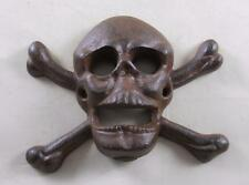 Cast Iron Wall Mounted Skull & Crossbones Bottle Opener Kitchen Pub Bar Beer