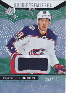 17-18 Trilogy Pierre-Luc Dubois /399 Jersey Rookie Level 1 ...