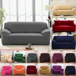 NEW 1-4 Seater Stretch Chair Sofa Covers Couch Cover Elastic Slipcover Protector