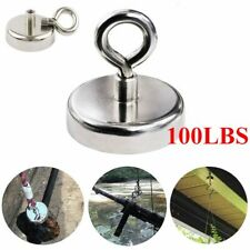100lb Fishing Magnet Kit Strong Neodymium 45kg Pull Force Treasure Hunt