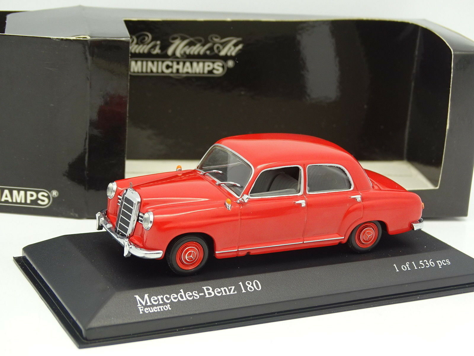 Minichamps 1 43 - Mercedes 180 W120 W120 W120 Red 1953 77d543