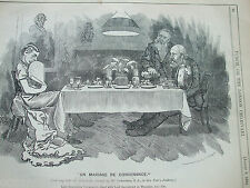 ANTIQUE PRINT 1884 PUNCH LONDON CHARIVARI LORD RANDOLPH CHURCHILL LORD SALISBURY