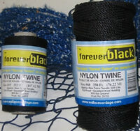 Wallace Cordage Tarred Twisted Black Nylon Twine 1 Lb Tubes Choose Your Size