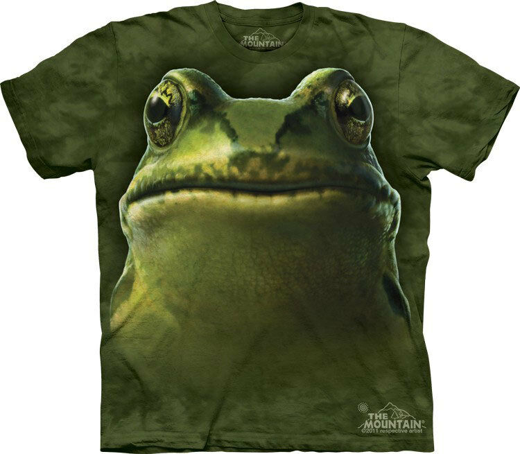 NEW FROG HEAD Amphibian Pond Life The Mountain T Shirt Adult Sizes