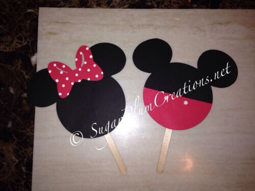 """Minnie Mouse or Mickey Mouse 5.25/"""" Die Cut Baby shower or Birthday Decoration"""