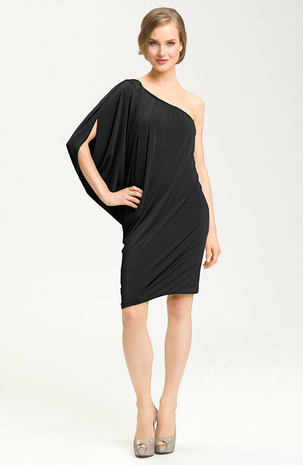 Maggy London Iridescent One Shoulder Dress ( size 6)