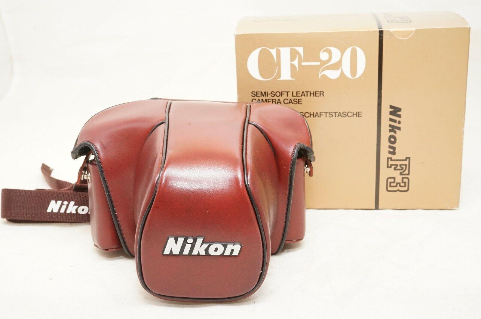 [MINT IN BOX]NIKON CF-20 Leather Camera Case For F3 F3HP F3T F3P w/Strap